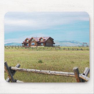 cabine de rondin dans le Colorado Tapis De Souris