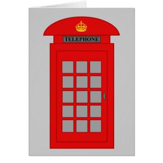 Cabine téléphonique britannique carte