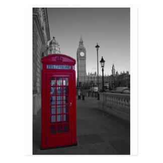 Cabine téléphonique rouge de Londres Carte Postale