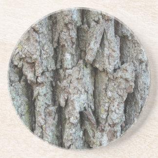 Caboteur d'écorce d'arbre dessous de verres