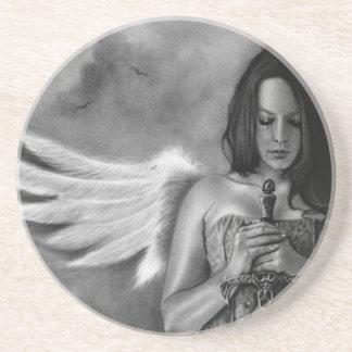 Caboteur d'épée de fille d'ange de défenseur dessous de verre