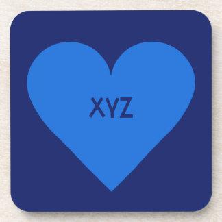 Caboteurs bleus de coutume de Valentine de coeur Sous-bocks