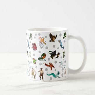 Cachots et tasse de café de dragons