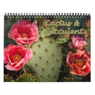 Cactus 2018 et calendrier succulent de fleur