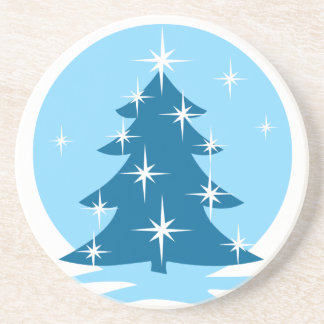 Cadeau bleu d'arbre de Noël de caboteur élégant de Dessous De Verres