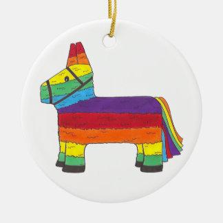 Cadeau customisé d'anniversaire de Piñata Ornement Rond En Céramique