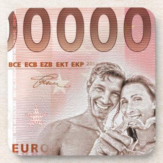 Cadeau d'argent au mariage - 1-Mio-Euro Dessous-de-verre