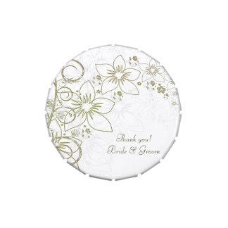 Cadeau de cadeau pour le mariage simple d'or vert boites jelly belly