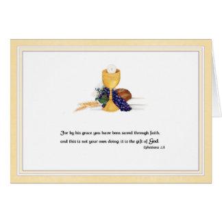 Cadeau de carte de confirmation/communion de Dieu