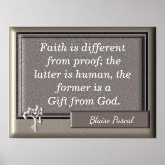 Cadeau de Dieu - copie d'art - citation de Pascal Poster