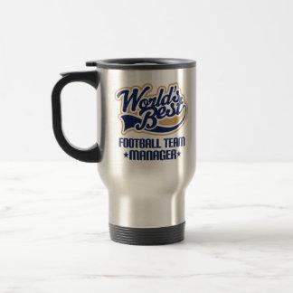 Cadeau de directeur d'équipe de football mug de voyage