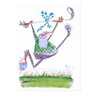 cadeau de golf, fernandes élégants carte postale