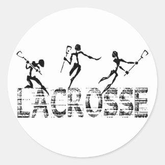Cadeau de lacrosse sticker rond