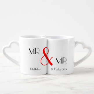 Cadeau de M. et de mariage de M. Gay Lot De Mugs