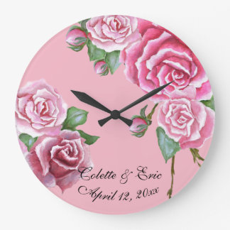 Cadeau de mariage nuptiale d'horloge murale de grande horloge ronde
