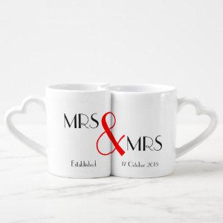Cadeau de Mme et de mariage de Mme Lesbian Lot De Mugs