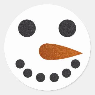 Cadeau de Noël de vacances d'autocollants de Sticker Rond