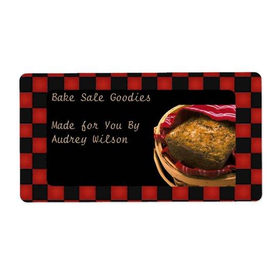 Cadeau de nourriture de votre cuisine étiquettes d'expédition