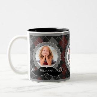 Cadeau de photo de thème de hippie pour le tasse 2 couleurs