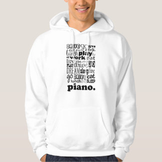 Cadeau de piano veste à capuche