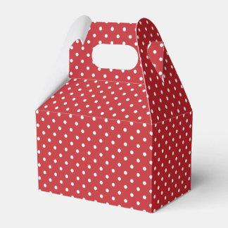 Cadeau de pignon de pois/ballotin rouges et blancs boites faveurs de mariage