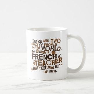Cadeau de professeur français mug blanc