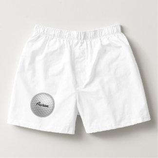Cadeau de sous-vêtements des boxeurs de golf des