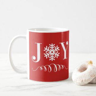 Cadeau de tasse de flocon de neige de joie de