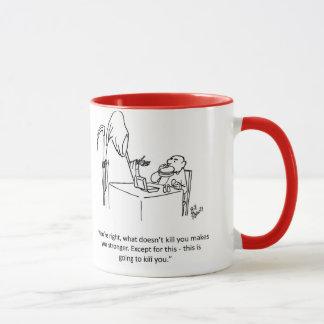 Cadeau de tasse d'humour de faucheuse