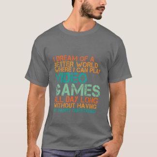 Cadeau drôle de T-shirt de Gamers pour les ballots