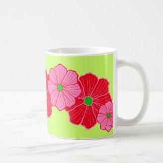 Cadeau hawaïen tropical de tasse de café de fleur