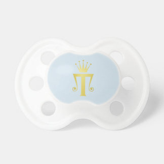 Cadeau initial de tétine de bébé de monogramme de