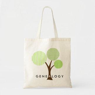 Cadeau modelé lunatique d'arbre généalogique de tote bag