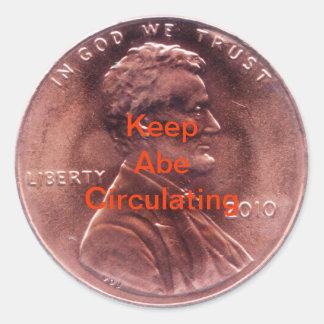 Cadeau numismatique sticker rond