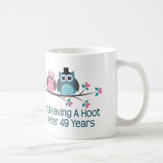Cadeau pour la quarante-neuvième huée mug blanc