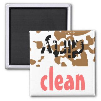 Cadeau sale propre de lave-vaisselle d'aide de magnet carré