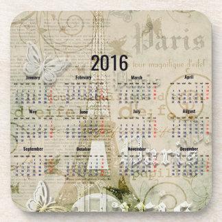 Cadeaux 2016 de nouvelle année de Paris de Tour Dessous-de-verre