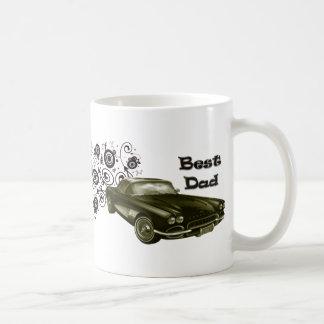 Cadeaux classiques vintages d'art de voiture du mug blanc