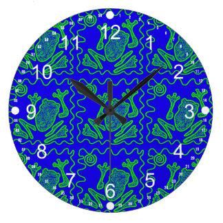 Cadeaux colorés d'art de griffonnage d'enfants de grande horloge ronde