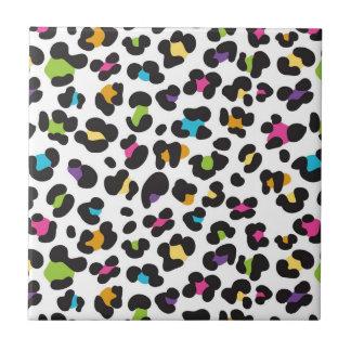Cadeaux colorés d'empreinte de léopard de guépard petit carreau carré
