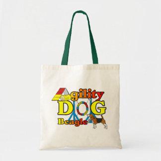 Cadeaux d'agilité de beagle tote bag