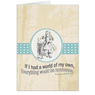 Cadeaux d'Alice et du pays des merveilles Carte