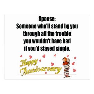 Cadeaux d'anniversaire de mariage carte postale