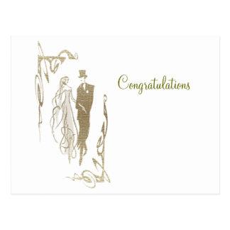 Cadeaux d'art de mariage et d'anniversaire de carte postale