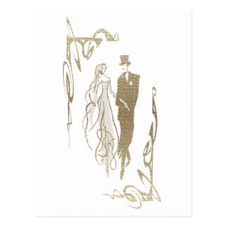 Cadeaux d'art de mariage et d'anniversaire de cartes postales