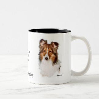 Cadeaux d'art de Sheltie de chien de berger de Tasse 2 Couleurs
