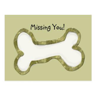 Cadeaux d'art d'os de chien cartes postales