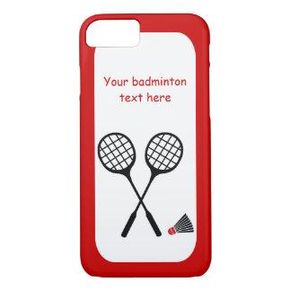 Cadeaux de badminton, raquette et coutume de coque iPhone 8/7