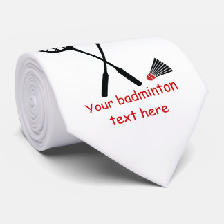 Cadeaux de badminton, raquette et cravate de