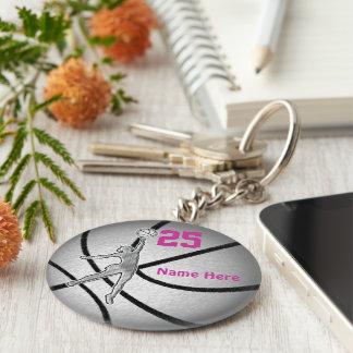 Cadeaux de basket-ball pour l'équipe de filles porte-clés